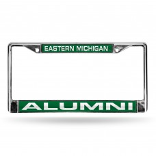 Eastern Michigan Alumni Green Laser Chrome License Plate Frame