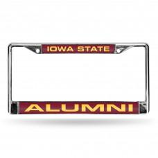 Iowa State Alumni Laser Chrome License Plate Frame