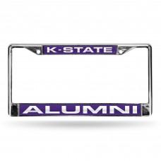 Kansas State Alumni Purple Laser Chrome License Plate Frame