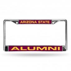 Arizona State Alumni Laser Chrome License Plate Frame
