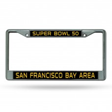 Super Bowl 50 Laser Chrome License Plate Frame