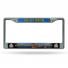 Super Bowl 50 Chrome License Plate Frame