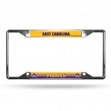 East Carolina Ez View Chrome License Plate Frame