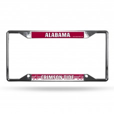 Alabama Crimson Tide EZ View Chrome License Plate Frame