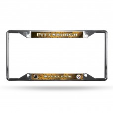 pittsburgh steelers ez view chrome license plate frame