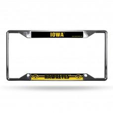 Iowa EZ View Chrome License Plate Frame