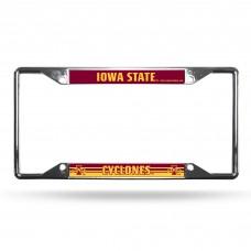 Iowa State EZ View Chrome License Plate Frame
