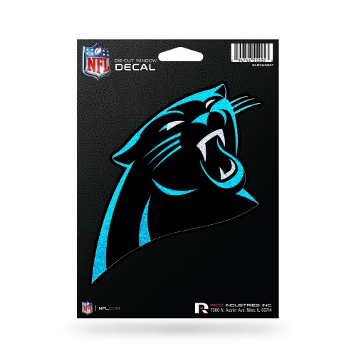 CAROLINA PANTHERS BLING MEDIUM DIE CUT DECAL