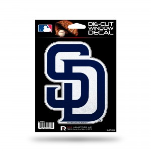 SAN DIEGO PADRES BLING MEDIUM DIE CUT DECAL