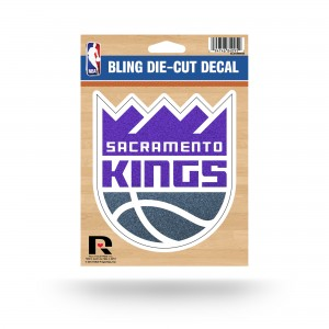 SACRAMENTO KINGS BLING MEDIUM DIE CUT DECAL