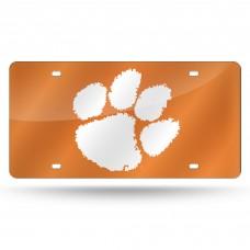 Clemson Orange Laser License Plate