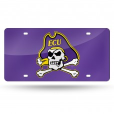 East Carolina Purple Laser License Plate
