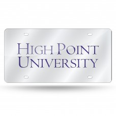 High Point Silver Laser License Plate