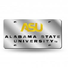 Alabama State Silver Laser License Plate