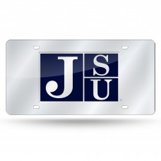 Jackson St Silver Laser License Plate