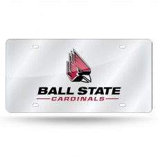 Ball State Silver Laser License Plate