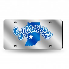 Indiana State Silver Laser License Plate