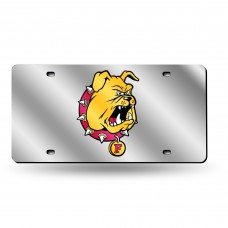 Ferris State Silver Laser License Plate