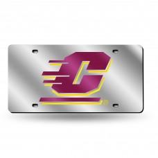 Central Michigan Silver Laser License Plate