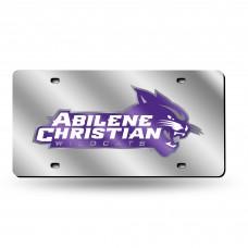 Abilene Christian Silver Laser License Plate