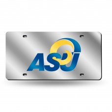 Angelo State Silver Laser License Plate