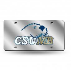 Cal St Monterey Bay Silver Laser License Plate