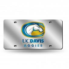 Cal St Davis Silver Laser License Plate
