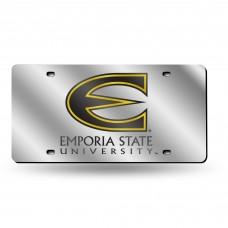 Emporia St Silver Laser License Plate