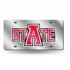Arkansas State Silver Laser License Plate