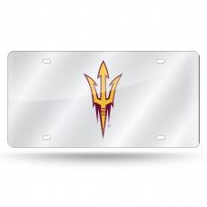 Arizona State Sun Devils Silver Laser License Plate