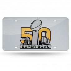 Super Bowl 50 Laser License Plate