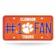 Clemson #1 Fan Metal License Plate