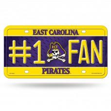 East Carolina #1 Fan Metal License Plate