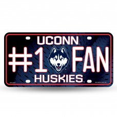 Connecticut #1 Fan Metal License Plate