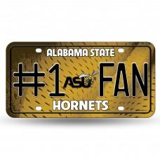 Alabama State #1 Fan Metal License Plate