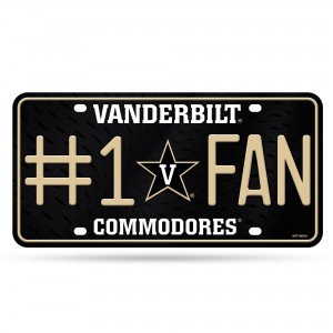 Vanderbilt #1 Fan Metal Tennessee License Plates