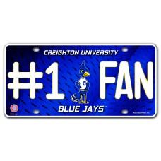 Creighton #1 Fan Metal License Plate