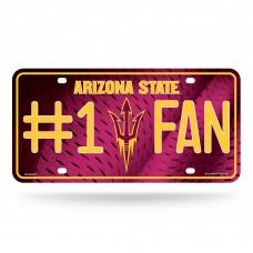 Arizona State #1 Fan Metal License Plate
