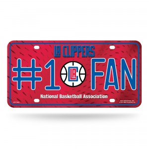 Los Angeles Clippers #1 Fan Metal License Plate