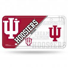 Indiana University Metal License Plate