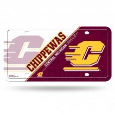 Central Michigan Metal License Plate