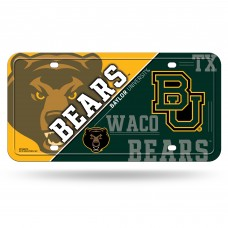 Baylor Bears BU Metal License Plate