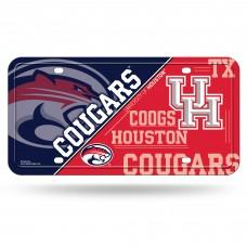 Houston Metal License Plate