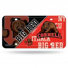Cornell Metal License Plate