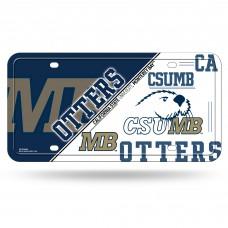 Cal St Monterey Bay Metal License Plate