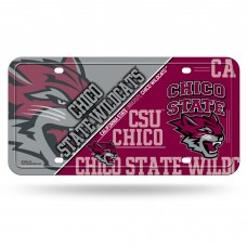 Cal St Chico Metal License Plate