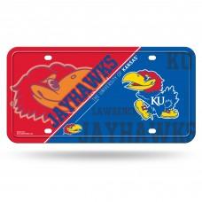 Kansas Jayhawks Metal License Plate