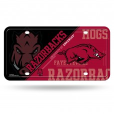Arkansas Razorbacks Hogs Metal License Plate