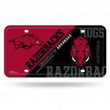 Arkansas Razorbacks Mascot Metal License Plate