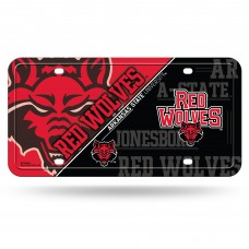 Arkansas State Red Wolves Metal License Plate